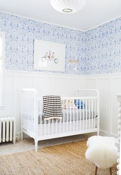After 6 weeks of renovation, the space is complete! Come check out Francois Renovates' Nursery Before & After.there's a video! Nursery Room, Boy Room, Kids Bedroom, Nursery Decor, Room Decor, Nursery Ideas, Coastal Nursery, Baby Bedroom, Bedroom Sets