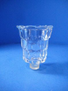 Clear Pressed Glass Peg Candlestick Holder To Votive Converter #Unbranded #Traditional