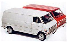 1969 Ford Econoline van - white