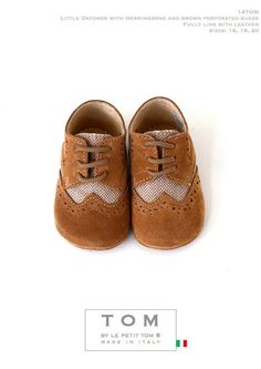 TOM by Le Petit Tom ® LITTLE OXFORDS  14tom brown/herringbone