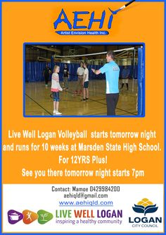 #aehivolleyball  Play and Learn trough Live Well Logan Tuesday Nights at Marsden State High School  Everyone Welcome!!!