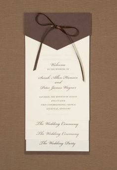 michaelscom wedding department brides ivory and brown programs