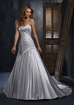 gorgeous silver wedding dress) If we ever renew our vows I want a ...
