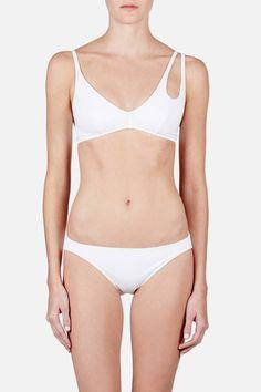 Araks — Elias Bikini Top & Enil Bikini Bottom White — THE LINE