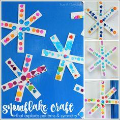 Simple Snowflake Craft for Preschoolers