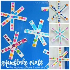 Simple Snowflake Craft for Preschoolers