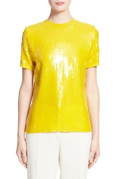 Short sleeve sequin blouse