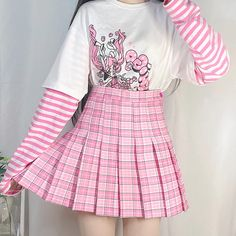 Cute Skirt Outfits, Pink Outfits, Cute Skirts, Cute Casual Outfits, Pretty Outfits, Girl Skirts, Harajuku Fashion, Kawaii Fashion, Cute Fashion