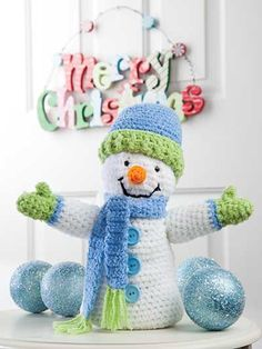 Crochet - Holiday & Seasonal Patterns - Christmas Patterns - Snowman