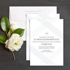 Fresh Pattern Wedding Invitations by Emily Crawford | Elli