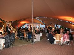 12m x 18m tent linked with 12m x 7.5m tent