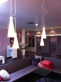 S2 pendant lamp by Joan Gaspar in Hotel Tryp Berlin. Interior design by Sergi Blanch