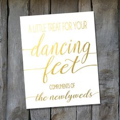 Instant Download Gold Dancing Feet Sign  by IrresistibleInvites1