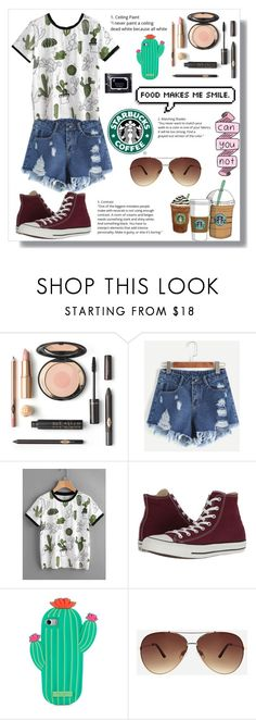 """""""What I would wear"""" by switchkid ❤ liked on Polyvore featuring Converse, Cotton Candy, Kate Spade, Ashley Stewart and e.l.f."""