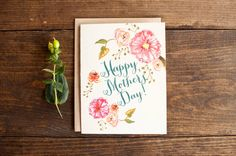 Mother's day card with beautiful painted by StationeryBakery, $4.00