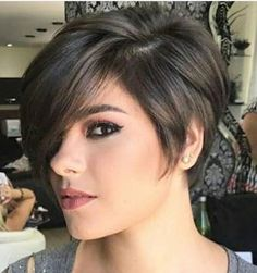 best short haircuts for women 2019 page 41 Short Hairstyles For Thick Hair, Haircut For Thick Hair, Best Short Haircuts, Short Hair Cuts For Women, Pixie Hairstyles, Pixie Haircut Styles, Curly Hair Styles, Haircut For Older Women, Hair Trends