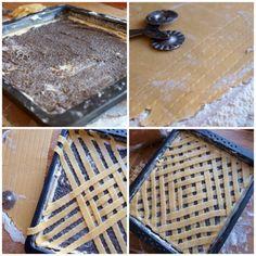 Tvarohovo-makový mřížkový koláč - Avec Plaisir Butcher Block Cutting Board, Dessert Recipes, Bread, Food, Poppy, Brot, Essen, Baking, Meals