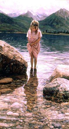 lil girl in the lake....Steve hanks