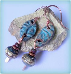 RESERVED FOR TUESDAY Beaded tribal style dangle by TwoTreesStudio, $31.00
