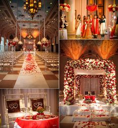 Stunning Indian wedding ceremony, like he layout but not the colors, purple instead!