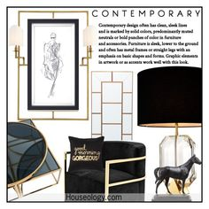 """""""Chic luxe decor"""" by budding-designer ❤ liked on Polyvore featuring interior, interiors, interior design, home, home decor, interior decorating, Eichholtz and Xhilaration"""