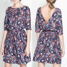 2015 mulheres da moda verão Tropical vestido Floral imprimir Vestidos meia manga Vestidos casuais mulheres Plus Size grátis frete