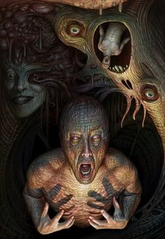 Psychic decay portrait by AlMaNeGrA | Twisted Art For Twisted Minds