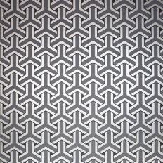 Papier peint - Osborne & Little - Trifid - Gris et argent Maori Patterns, Japanese Patterns, Graphic Patterns, Print Patterns, Geometric Designs, Geometric Shapes, Retro Pattern, Pattern Design, Art Maori