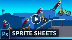 Animate Pixel Art Sprites  Photoshop Tutorial  http://videotutorials411.com/animate-pixel-art-sprites-photoshop-tutorial/  #Photoshop #adobe #lightroom #graphicdesign #photography