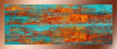 Mandarin Orange 48″ x 16″ - Copper - $1,800.00  My digital images are printed onto transparencies and layered over copper or aluminum sheets. The metal and image is mounted to a wooden box backing which has been treated with waterproof deck stain. The entire surface is then covered with acrylic resin which seals and protects the image. It also provides a glassy 3-D effect to the finished piece.  As waterproof as it can be, it can be used outdoors or in.