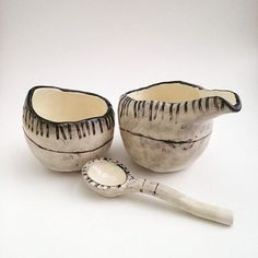 Pinchpots and my first spoon. by slashofblue