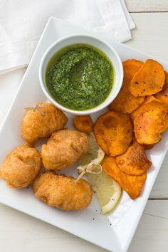 Fish and chips di rana pescatrice: fritto, croccante e gustoso. Un piatto ricco di energie! [Fish and chips - Fried monkfish and fried sweet potatoes]