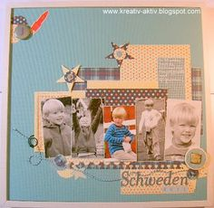 For the scrapbook layout october afternoon pp was used - topic: schweden holiday