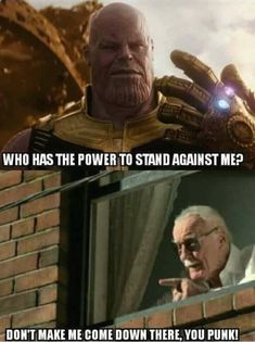 RIP Thanos<<< yup! That's the end! He shall die at the hands of the Great and Powerful Stan Lee
