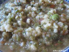 Quando avanza del minestrone che fare? Semplice, passarlo e aggiungere del bulgur cotto!