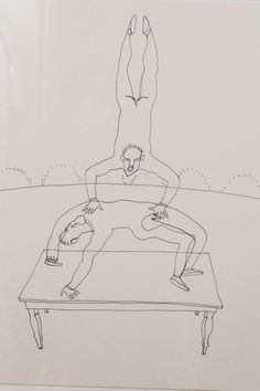 Alexander Calder (1898-1976):  Framed Circus Drawings | {detail}