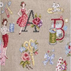 "The great ABC ""Audrey"" embroidery cross stitch"