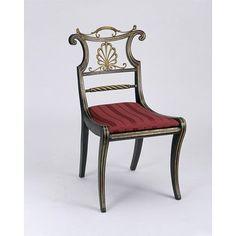 Trafalgar (Chair), 1810. Regency Furniture, Georgian Furniture, Antique Furniture, Belle Epoque, Art Nouveau, Antique Chairs, Antique Tables, Miniature Furniture, Discount Furniture