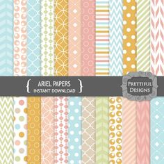Ariel #Digital #Paperspack by @prettdesigns | Download here http://www.luvly.co/users/PrettifulDesigns
