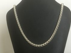 Necklace Silver Tone Rope Chain 18 inches #Unbranded #Chain