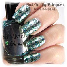 Nail Art by Belegwen: Shimmer Polish: Linna