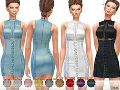 Sims 4 CC's - The Best: Crochet Inset Mini Dress