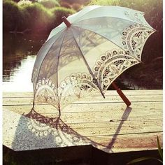 Lace Umbrella. Don't know how functional it would be in the rain, but it's adorable.