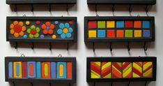De madeira com decoração na técnica de mosaico. 20 x 7 cms. de diâmetro Mosaic Crafts, Mosaic Projects, Mosaic Art, Mosaic Glass, Mosaic Tiles, Glass Art, Projects To Try, Diy And Crafts, Arts And Crafts