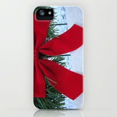 Red Bow for Christmas iPhone & iPod Case by BACK to BASICS - $35.00