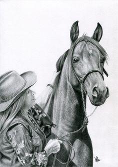 Portret kobiety z koniem.