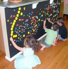 magnetic wall paint - what a fantastic idea - I have a painted panel near my kitchen - wonder if they would notice if I painted it black???