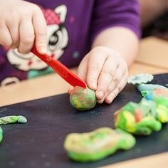 Whilst making playdough with OSHC educator and other children Preppy-girl confidently says We dont eat playdough because food colouring is bad for you. Well said Preppy-girl.  A sound education is when a child can confidently and gracefully share their knowledge with others.