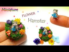 tutorial: miniature hamster with flowers