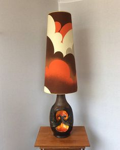 Vintage Ceramic Fat Lava Floor Lamp Base West German With Shade ...